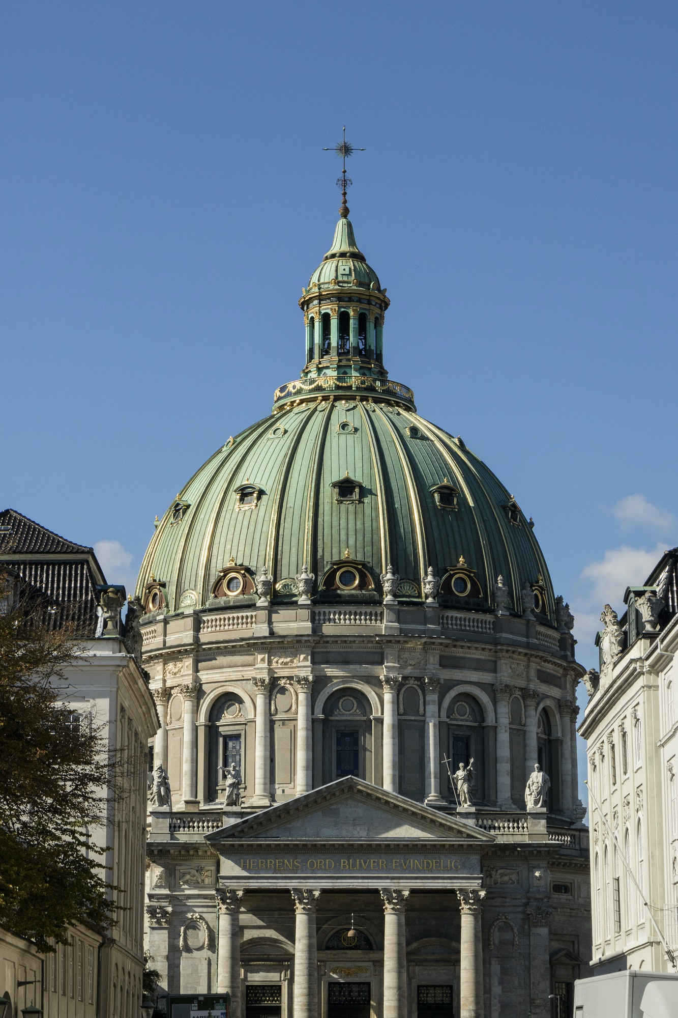 Frederik's Church or Marble Church on Frederiksgade in Copenhag